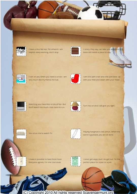 Super Bowl Scavenger Hunt
