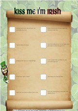 St Patty`s scavenger hunt