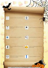 French halloween scavenger hunt