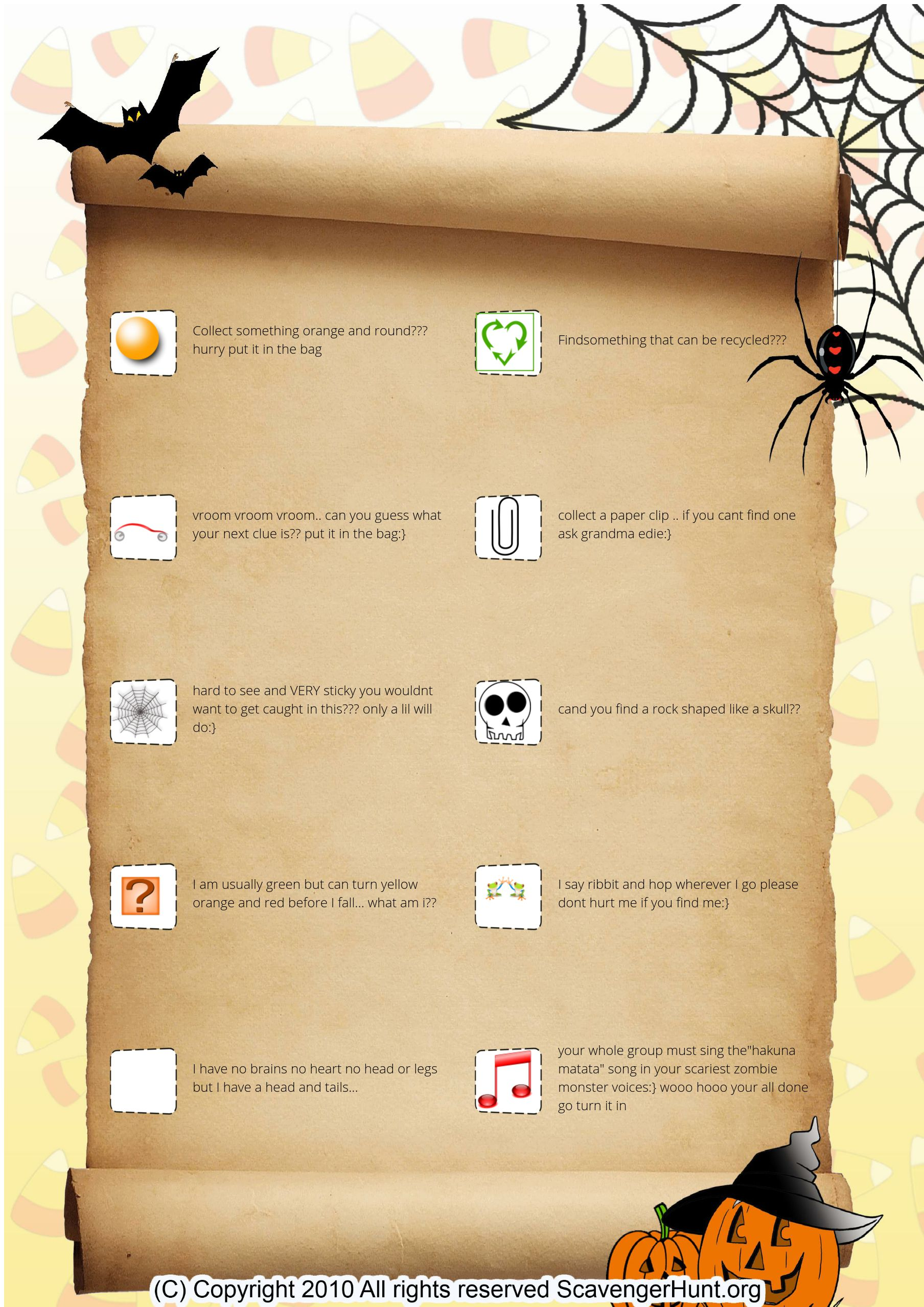You Wouldnt Want To Get Caught Between >> Ryders Spooky Scavenger Hunt