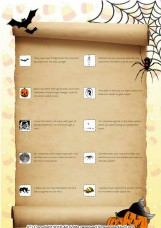 Halloween school scavenger hunt